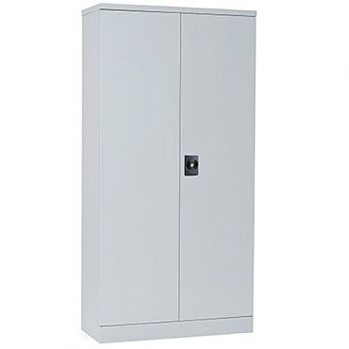 GO Steel Double Door Slim Design Cupboard Grey W914xD400xH1829mm