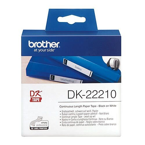 Brother DK 22210 Label Continuous Paper Tape 29mm x 30.48m White