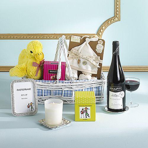 The bundle of joy baby boy gift basket