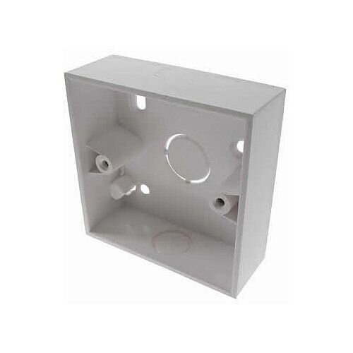 Single Gang Back Box 32mm Deep PVC - Dark Grey - 20mm Knockout - Colour: Grey