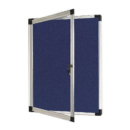 Bi-Office External Display Case 900x600mm Blue Felt Aluminium Frame VT630107230