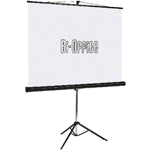 Bi-Office Tripod Projection Screen 1250mm - flame retardant and mildew resistant screen - unfold in seconds, and when you're done it's just as easy to pack it back into the sturdy steel case