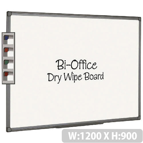 Bi-Office Whiteboard 1200x900mm Aluminium Finish MB1412186