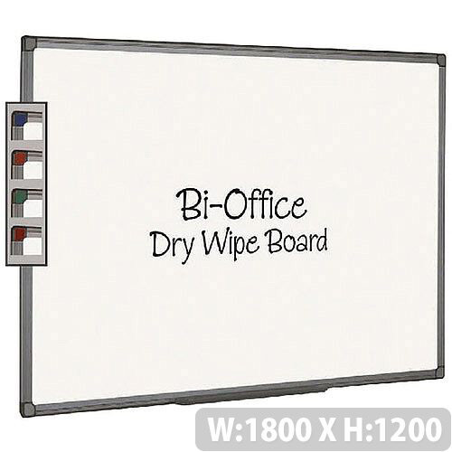Bi-Office Whiteboard 1800x1200mm Aluminium Finish MB8512186