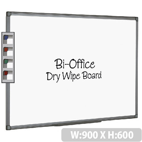Bi-Office Whiteboard 900x600mm Aluminium Finish MB0712186