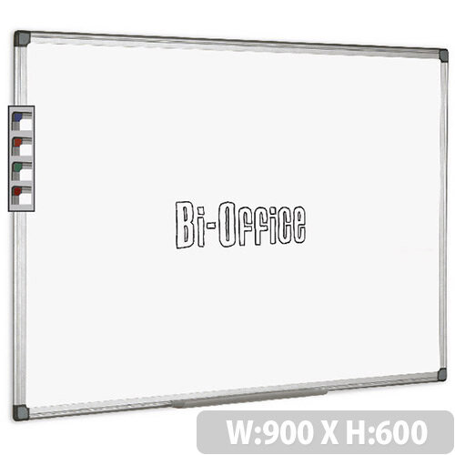 Bi-Office Whiteboard 900x600mm Aluminium Frame MB0312170