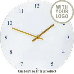 Recycled Glass Wall Clock 002103324 - Customise With Your Logo or Text