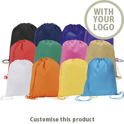 Rainham' Drawstring Bag 002108728 - Customise With Your Logo or Text