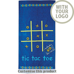 Tic-Tac-Toe beach towel IT2818-04 106339 - Customise With Your Logo or Text