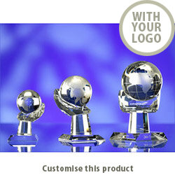 Hand &Spinning Globe 100Mmdia 112233 - Customise With Your Logo or Text