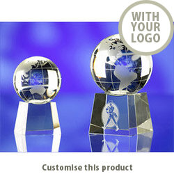 Globe On Base 80Mmdia 112237 - Customise With Your Logo or Text