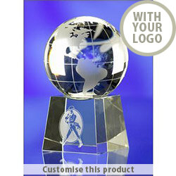 Globe On Base 100Mmdia 112238 - Customise With Your Logo or Text