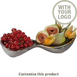 """2- Piece Chrome Bowl """"lancaster"""" 113464 - Customise with your brand, logo or promo text"""