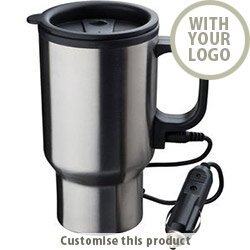 """Heating Stainless Steel Thermo Cup """"Portland"""" Travel Mug 113634 - Customise with your brand, logo or promo text"""