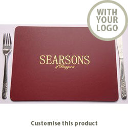 Bonded Leather Place Mats 145798 - Customise With Your Logo or Text