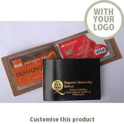 Bonded Leather Credit Card Wallets 145800 - Customise With Your Logo or Text