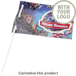 Flag and Stick 157898 - Customise With Your Logo or Text