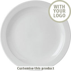 Narrow Rimmed Plate 171440 - Customise with your brand, logo or promo text