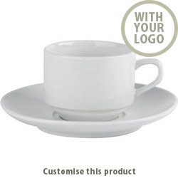 Stacking Cup &Saucer 171444 - Customise with your brand, logo or promo text