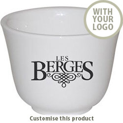 Chinese Tea Cup - Ceramic - White 17177 - Customise With Your Logo or Text