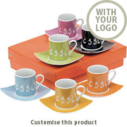 "Espresso set ""La Dolce Vita"" 201326 - Customise with your brand, logo or promo text"