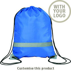 Knockholt' Reflective Drawstring Bag 25635 - Customise With Your Logo or Text