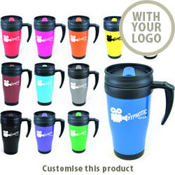 Polo Plus Double Walled Travel Mug 446766 - Customise with your brand, logo or promo text