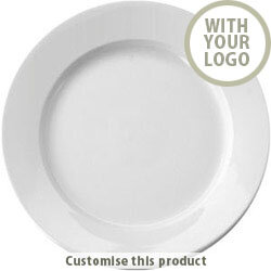 11.25'' Ceramic Plate 70472 - Customise with your brand, logo or promo text