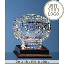 12.5cm Lead Crystal Panel Rose Bowl 70610607 - Customise with your brand, logo or promo text