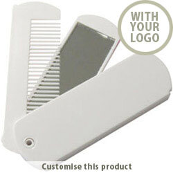 Mirror - Comb and Mirror - Folding 92751 - Customise With Your Logo or Text