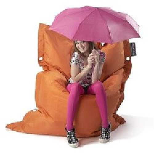 Orange Strapping Bean Bag Large For Indoor and Outdoor Use