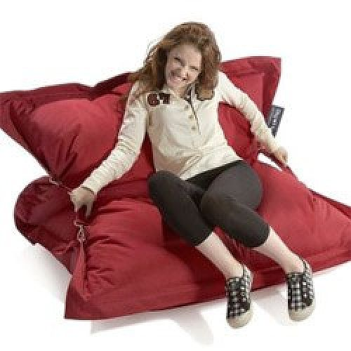 Red Strapping Bean Bag Large For Indoor and Outdoor Use