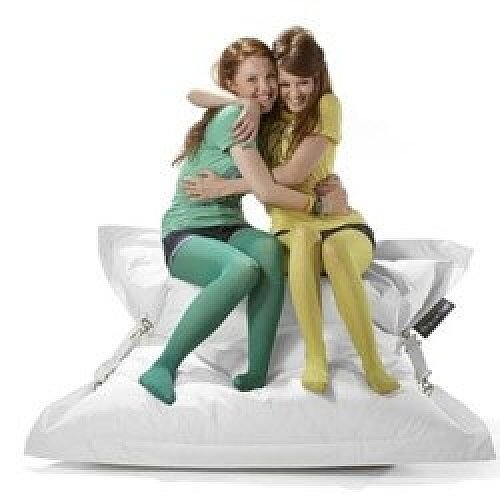 White Strapping Bean Bag Large For Indoor and Outdoor Use
