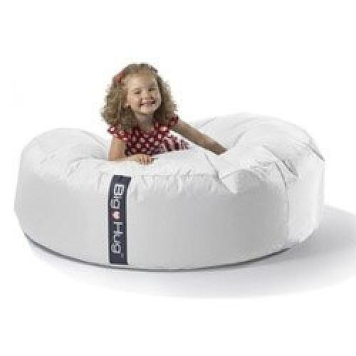 Remarkable Round White Bean Bag Large For Indoor Or Outdoor Use Gmtry Best Dining Table And Chair Ideas Images Gmtryco