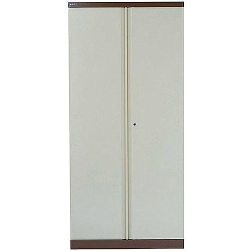 Bisley 2 Door Cupboard W914xD457xH1968mm Coffee/Cream BY36300