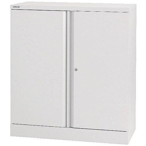 Bisley 40 2 Door Cupboard Chalk White 1 Shelf