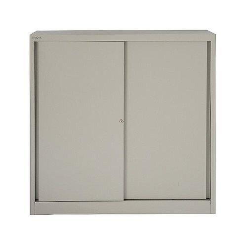 Bisley Cupboard 2 Dual Purpose Shelves Grey