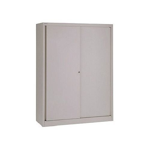 Bisley Sliding Door Cupboard 3 Dual Purpose Shelves Grey