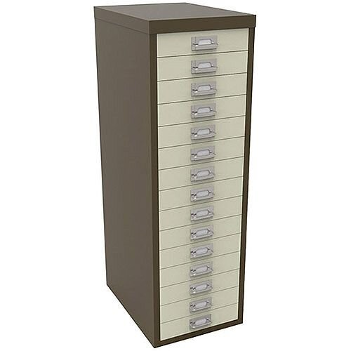 Bisley Multi-Drawer Cabinet 39 inches 15 Drawer Non-Locking Coffee ...