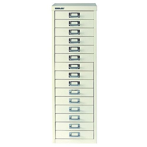 Bisley Multi-Drawer Cabinet 39 inches A4 15 Drawer White