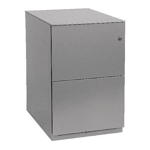 Bisley Note Pedestal Mobile 2 Filing Drawers Grey