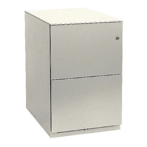 Bisley Note Pedestal Mobile 2 Filing Drawers White