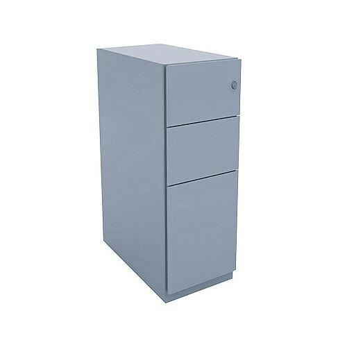 Bisley Note Pedestal Mobile 2 Stationery 1 Filing Drawer Grey