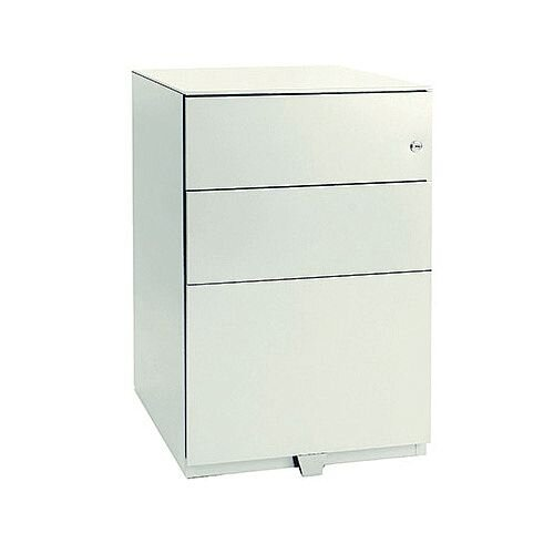 Bisley Note Pedestal Mobile 2 Stationery 1 Filing Drawer White