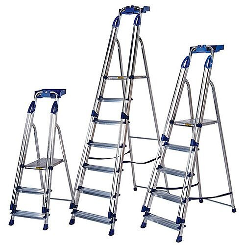Blue Seal Ladder 6-Tread Aluminium Platform Height 1.25M Capacity 150Kg 311496