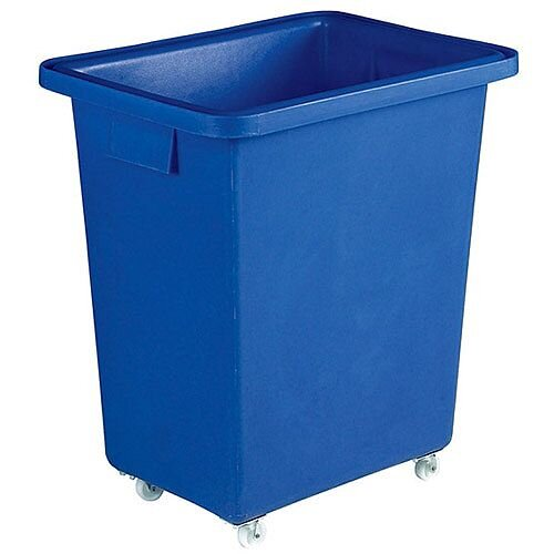 Bottle Skip 580x410x700mm 4x50mm Swivel Blue