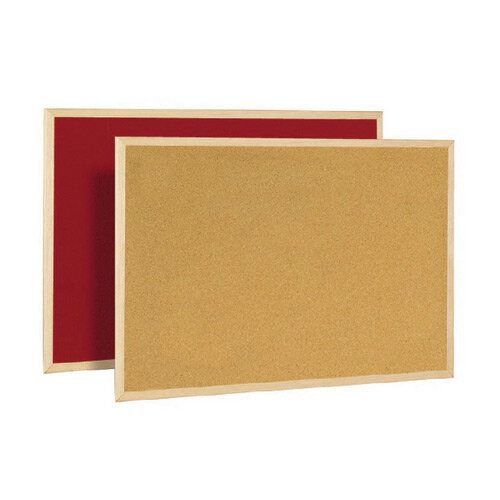 Bi-Office Cork/Felt 600x900mm Double-Sided Board FB0710010