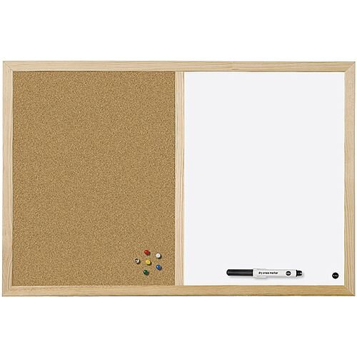 Bi-Office Cork/Write On Wipe Off Board 600x400mm MX03001010