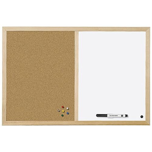Bi-Office Cork/Write On Wipe Off Board 900x600mm MX07001010