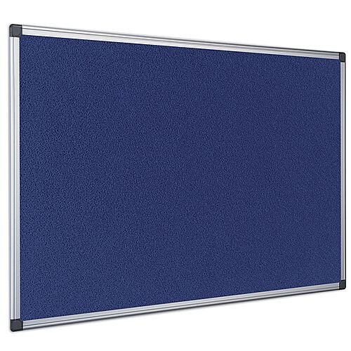 Bi-Office Felt Board 1200 x 900mm Blue Aluminium Frame FA0543170